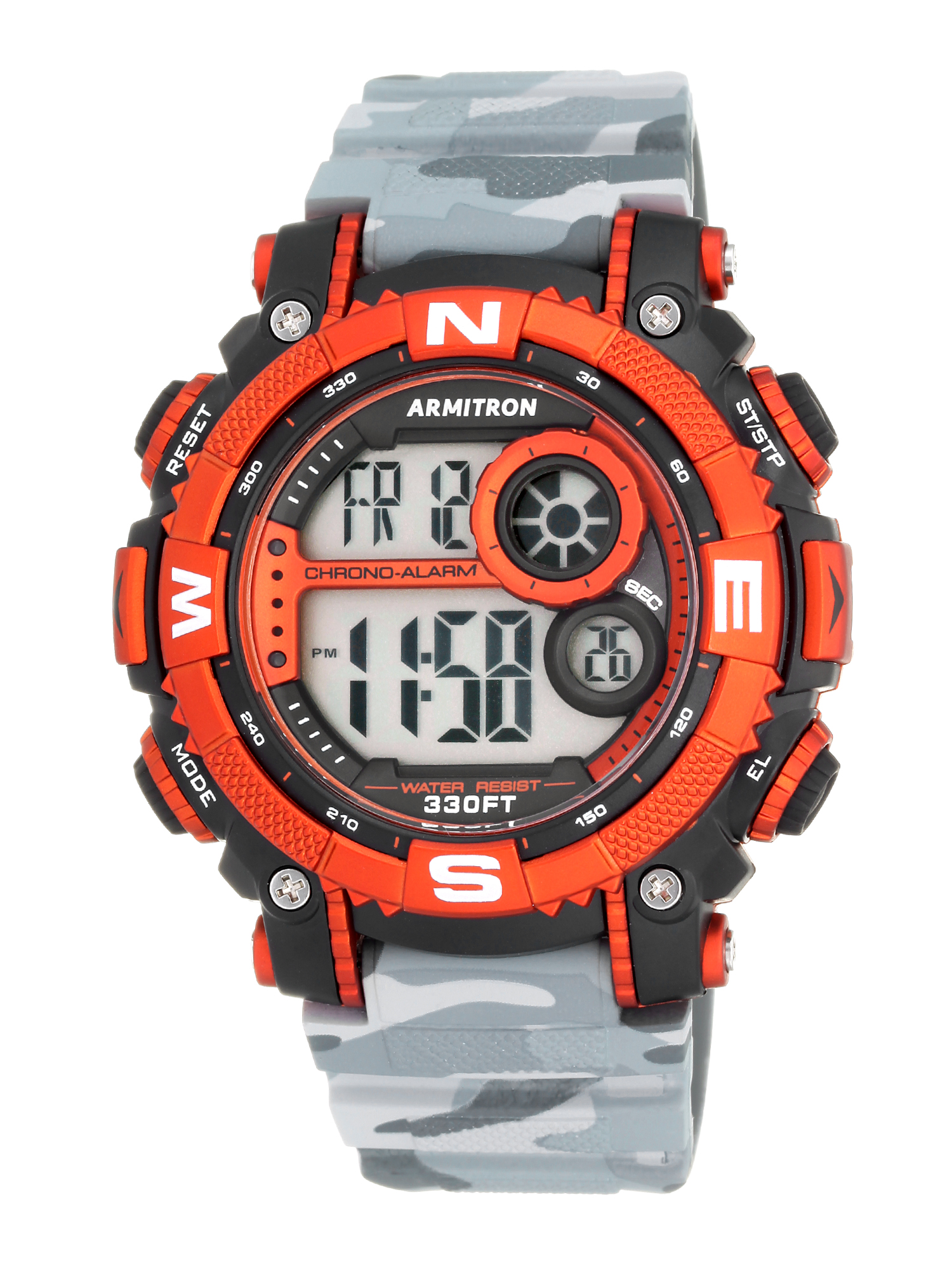 Armitron Men's Sport Countertop Grey Camouflage Watch, Resin Band