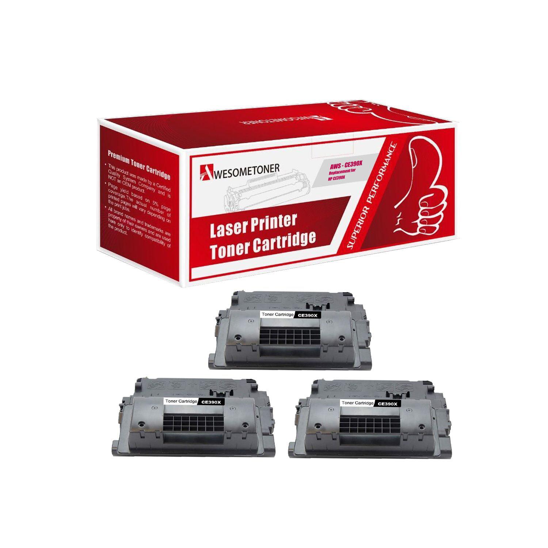 10 PK CE390X 90X High Yield Black Toner Cartridge for HP LaserJet M4555f M4555