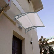 """URHOMEPRO 39"""" x 31"""" Front Door Awnings Canopies, Modern Polycarbonate Window Awning Cover, Patio Eaves Canopy Decorator, Door Window Rain Cover, Window Awning for Home Office, Home Decoration, W8226"""