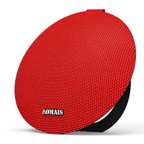 AOMAIS Ball Premium Wireless Bluetooth Stereo Speakers - Innovative Waterproof & Ultra-portable Design, Compatible with iOS & Android &PC, Enjoy Crisp & Crystal Clear Audio Everywhere(Red))
