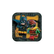Lego Batman Square Dessert Plates - Party Supplies - 8 Pieces