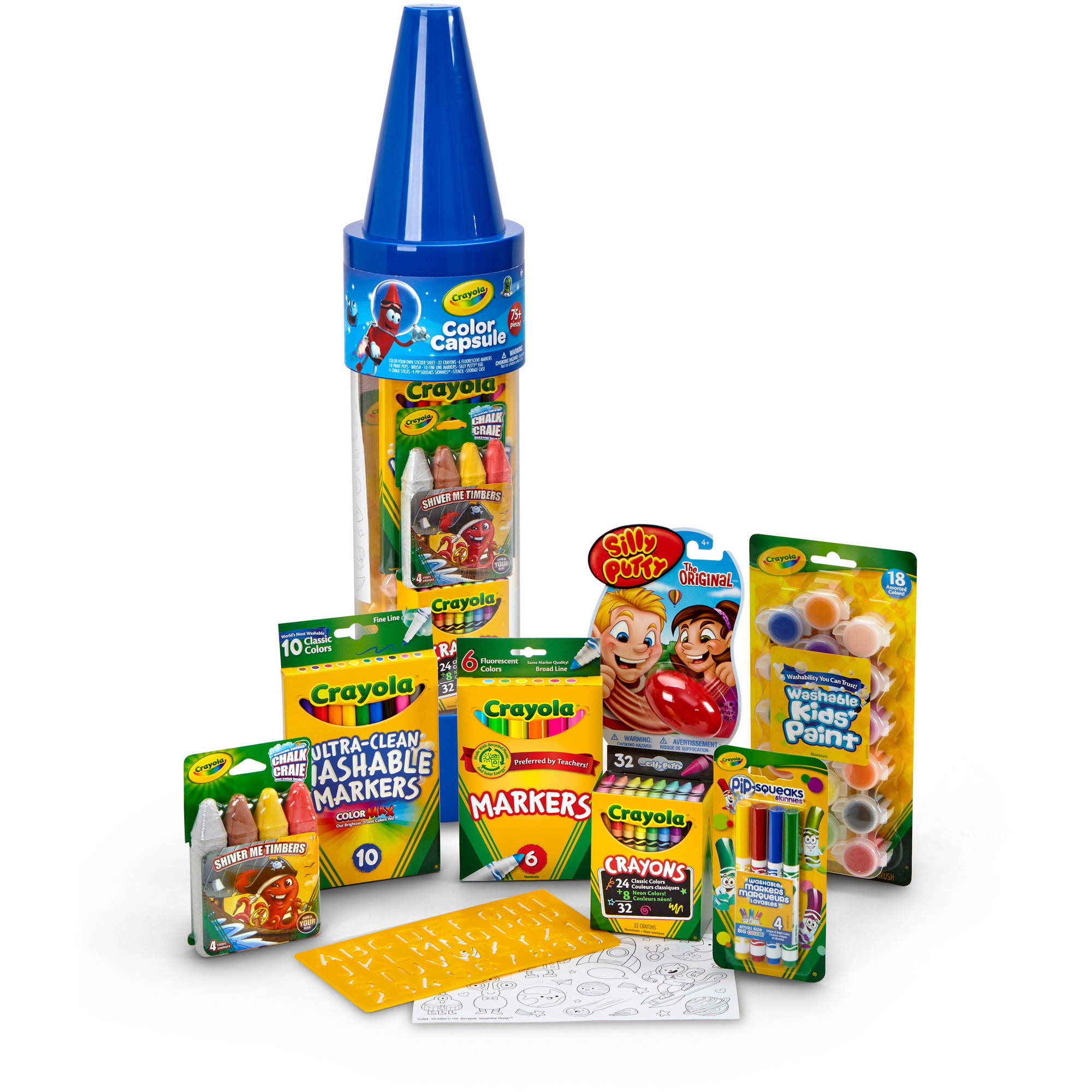 Crayola 78-Piece Color Capsule, Blue