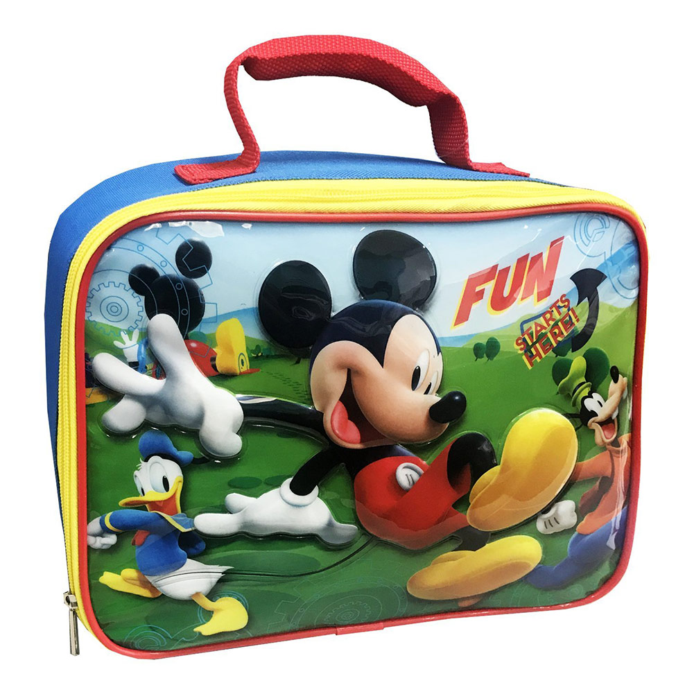 Disney Mickey Mouse And Roadster Racers Insulated Lunch Kit, Blue, 9.25x7.75x3.25 Inches