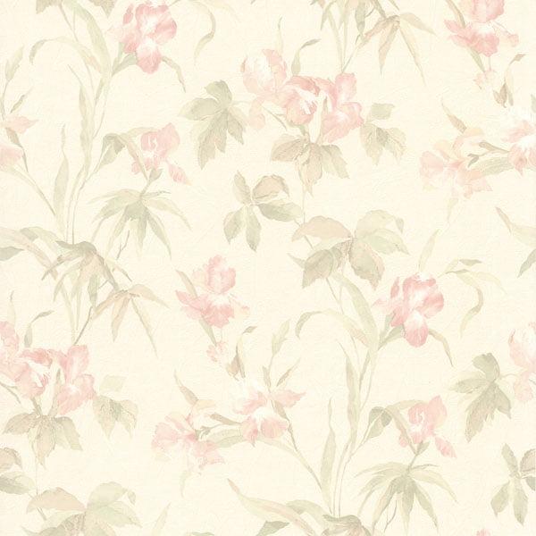 Iris Light Pink Iris Floral Wallpaper Walmart Com