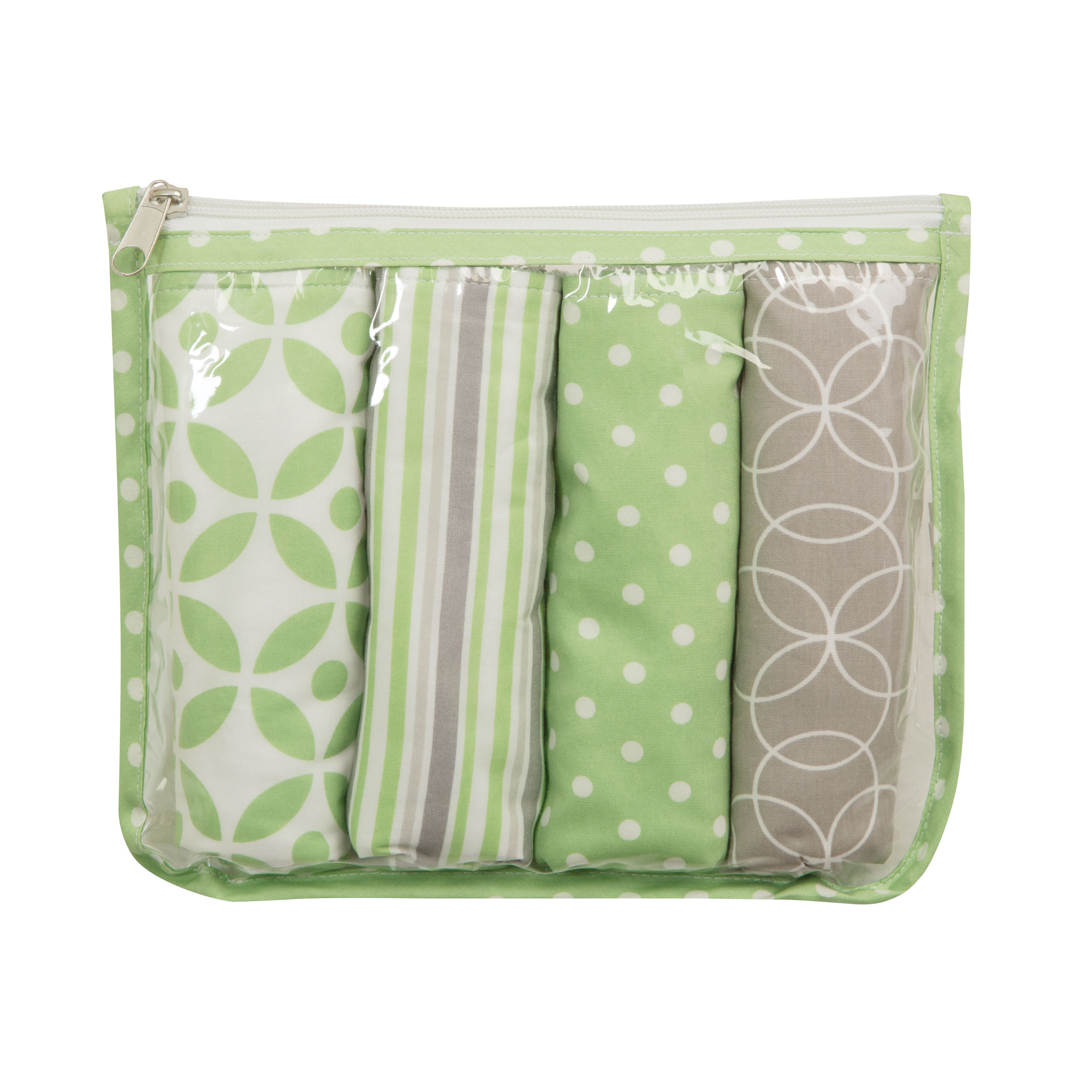 Gift Set - Lauren Zipper Pouch and 4 Burp Cloths