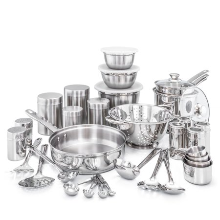 Old Dutch International Kitchen in a Box 36 Piece Stainless Steel Cookware Set