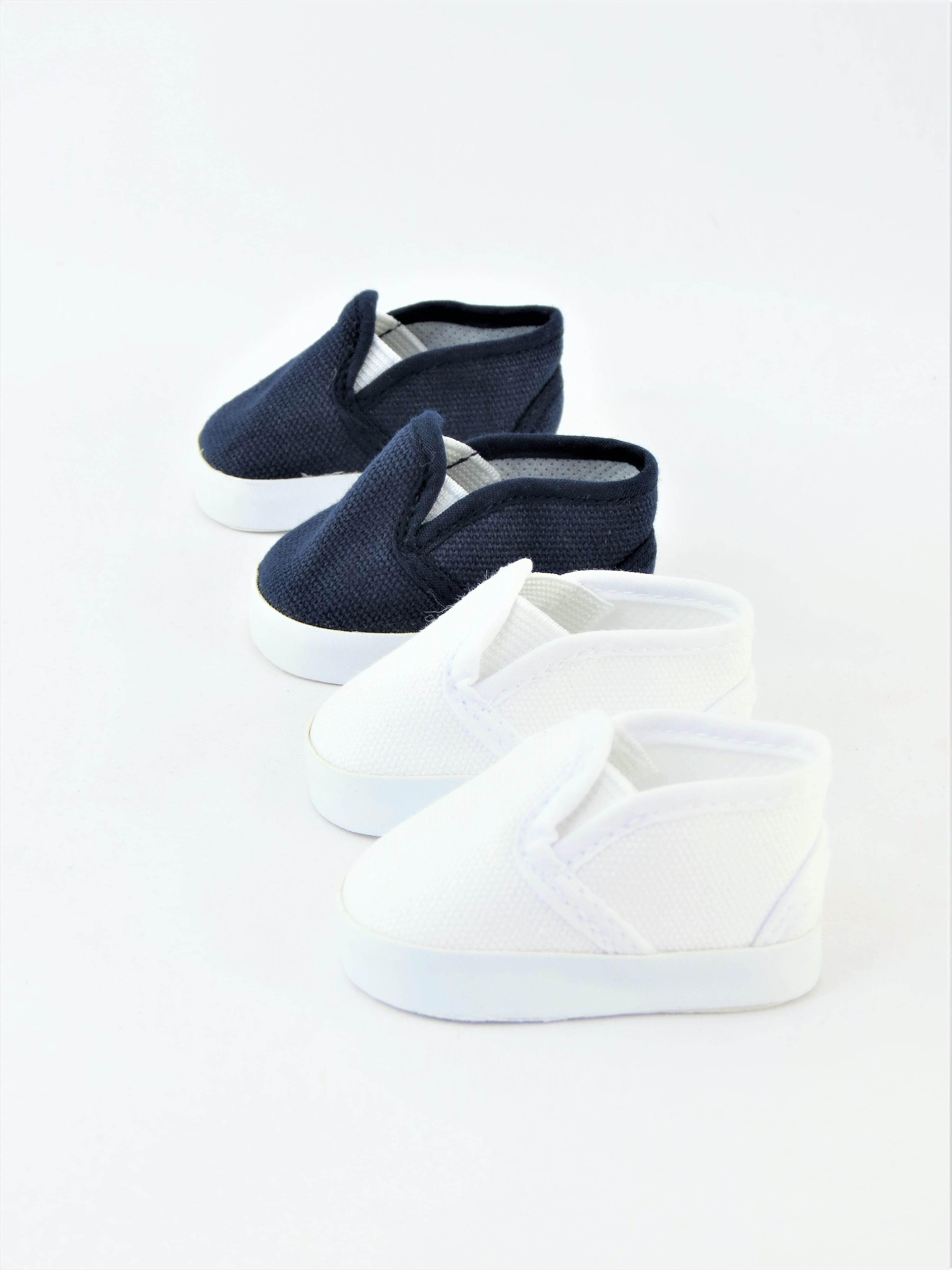 """WHITE Slip-On DOLL SANDALS SHOES fits 18/"""" AMERICAN GIRL DOLL"""