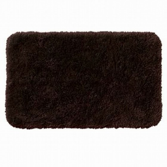 Apt 9 dark chocolate brown shag throw rug 17x24 comforel bath mat skid resistant for Chocolate brown bathroom rugs