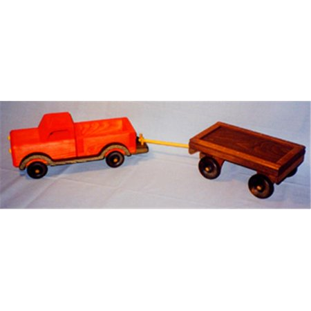 The Puzzle Man Toys W 2083 Wooden Play Farm Series   Accessories Special   Pick Up Truck   Wagon