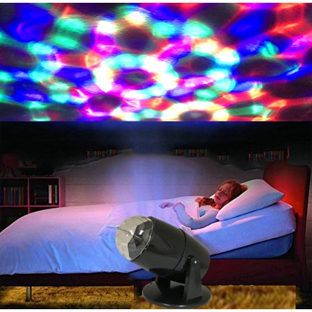 Kids' room Night Light, Party, Christmas, Halloween Indoors Projector Light Electrical LED Rotating Spot Light. Product Size: 6.1 x 5.7x9.44.