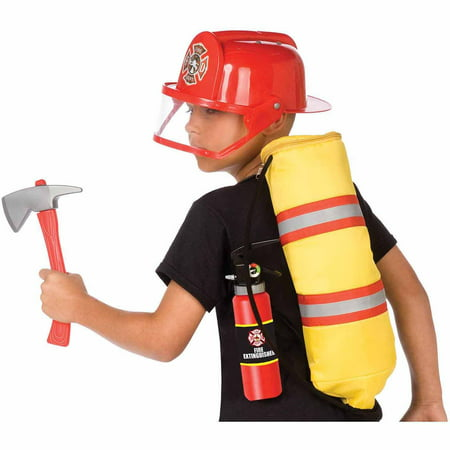 gear to go fireman adventure play set halloween costume accessory - Fireman Halloween