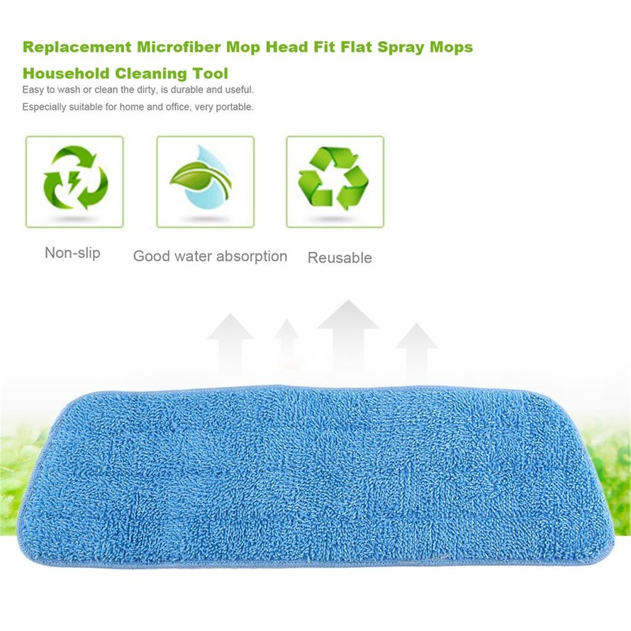 Replacement Microfiber Reusable Washable Mop Head Fit Flat Spray Mops Household Cleaning Tool House Floor Dust Mop Cover