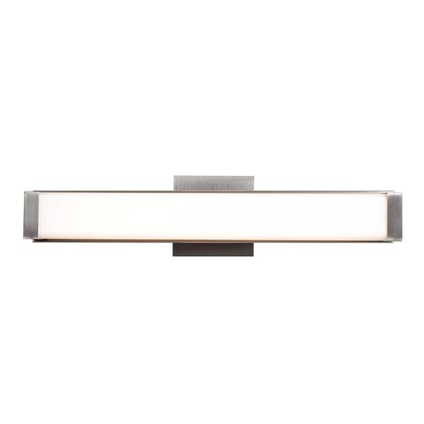 "Access Lighting Fjord 19"" 20W 1 LED Bath Vanity, Brushed Steel Finish with Opal Glass by Overstock"