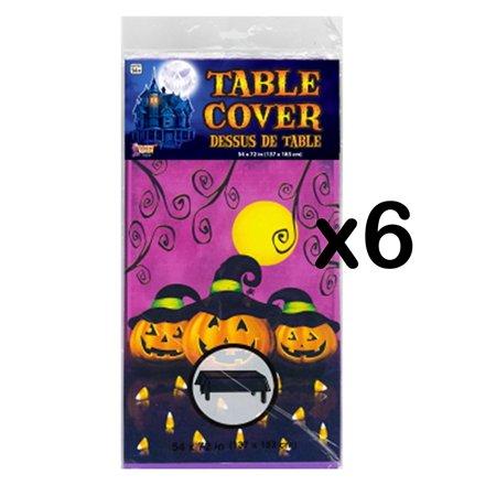 (LOT OF 6) Pumpkins & Candy Corn Table Cloths 54