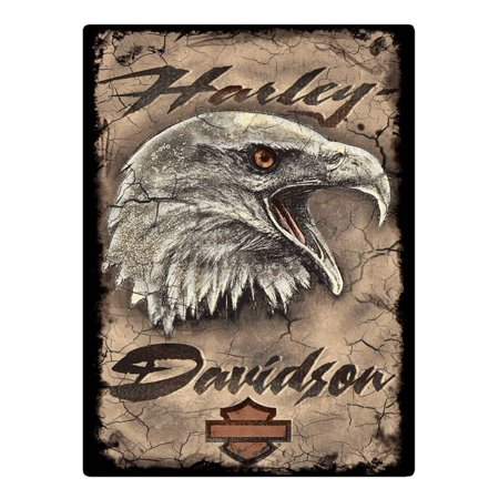 Harley Decor (Harley-Davidson Rugged Eagle Card Embossed Tin Sign, 12.5 x 17 inches 2011391, Harley)