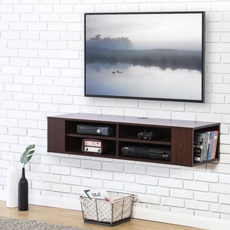 Fitueyes Wall Mounted Console Tv Stand Media Storage Cabinet Ds212001wb