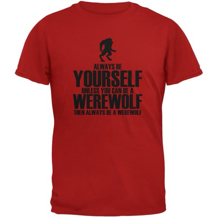 Halloween Always Be Yourself Werewolf Red Youth - Do Yourself Halloween Crafts