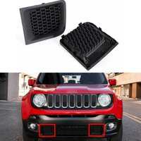 2x Front Bumper Grille Grill Insert Bezel Cover For Jeep Renegade 2015-2017 (Installation No included)