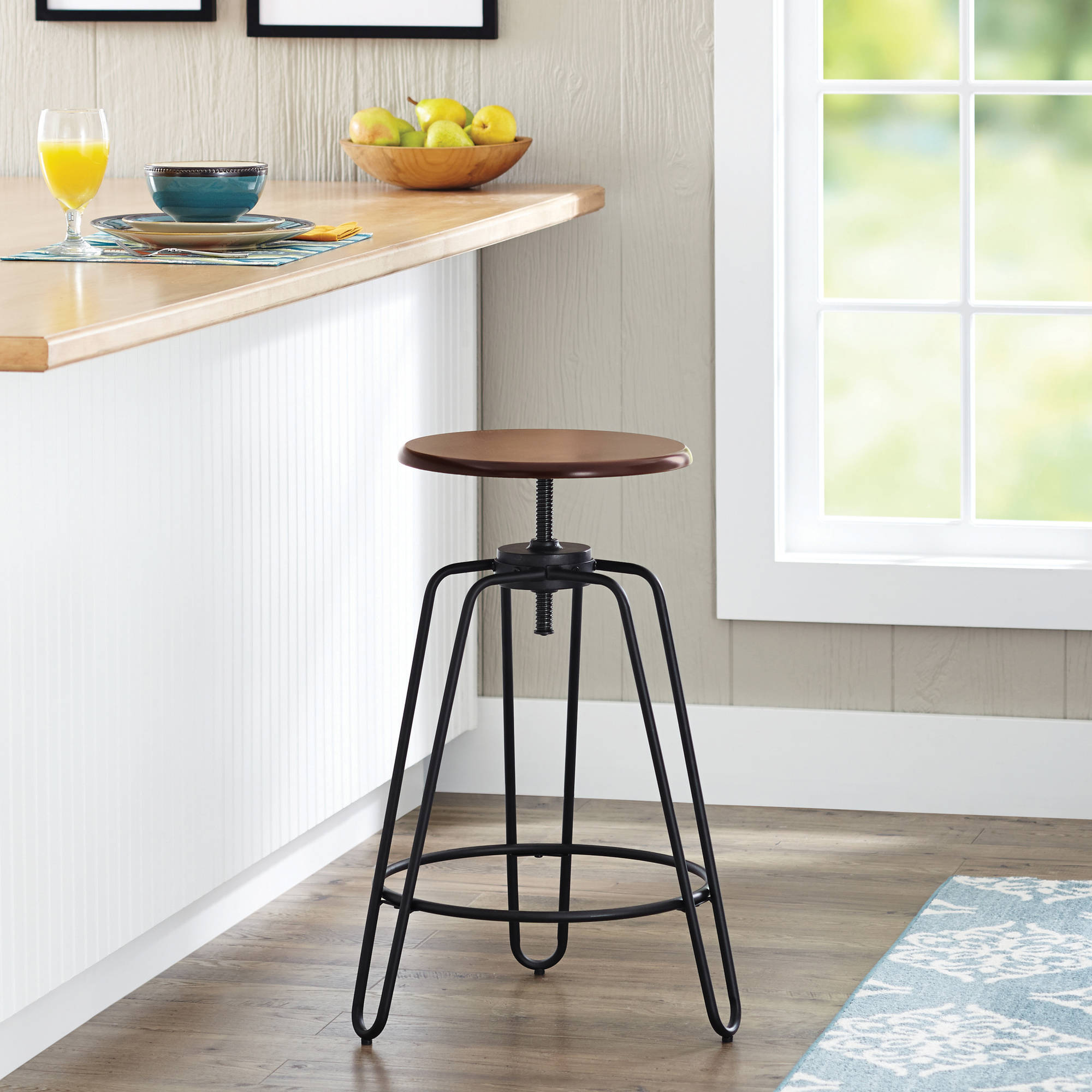 Better Homes and Gardens Adjustable-Height Spin Stool, Multiple Colors