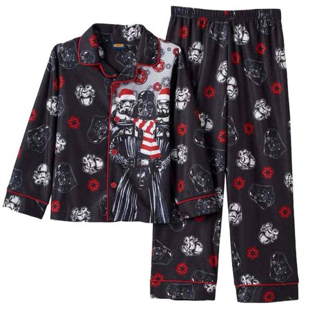 star wars boys black flannel christmas sleepwear darth vader pajama set 4 - Walmart Christmas Pajamas