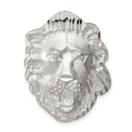 925 Sterling Silver Lion Head Charm and Pendant