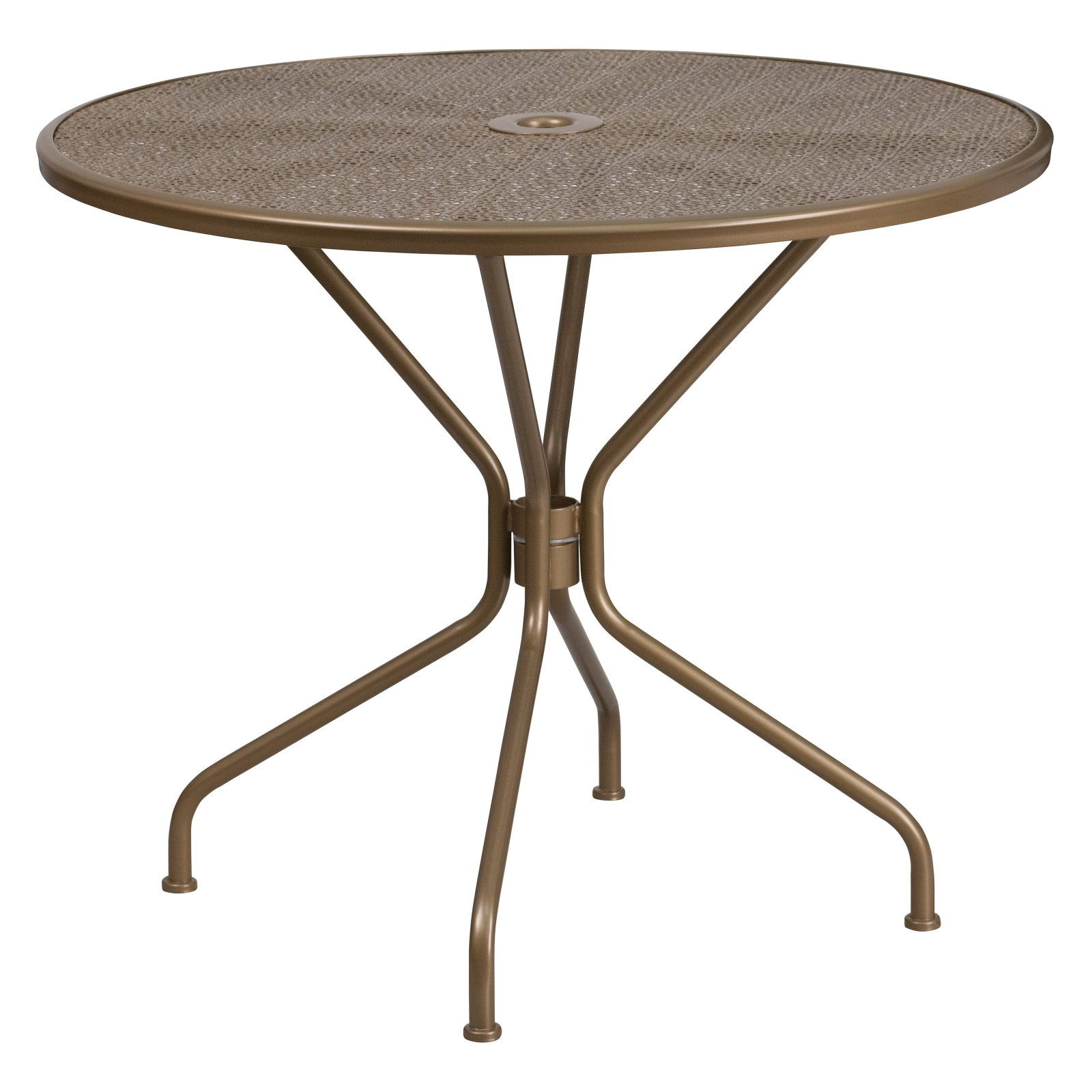"Flash Furniture 35.25"" Round Indoor-Outdoor Steel Patio Table, Multiple Colors"