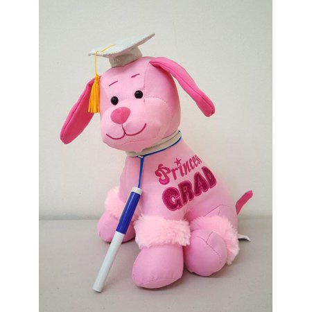 Graduation Autograph Dog With Pen, PINK - Congrats Grad! - Multiple Sitting Sizes to Choice - Hound Dog Gift Toys for Graduate Student Party 12