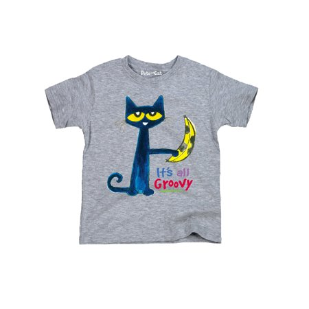 Pete the Cat  Licensed Book Character Banana Groovy Kids Youth T-Shirt (Groovy Love Child)