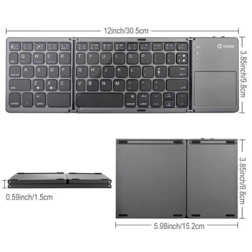 "Motorola /""Moto Z2 Force/"" Wireless Folding Keyboard with Stand"