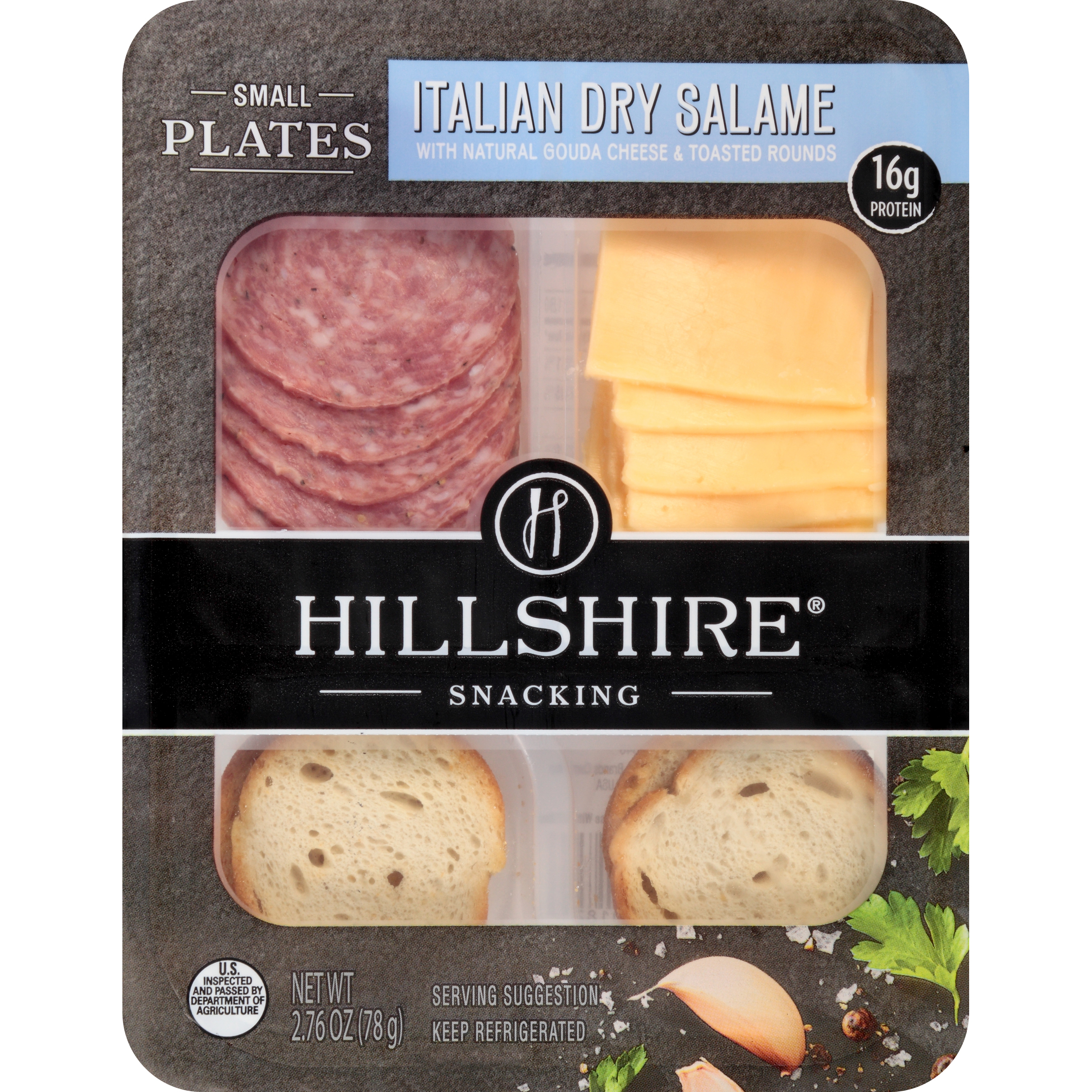 Hillshire® Snacking Small Plates, Italian Dry Salame and Gouda Cheese, 2.76 oz.