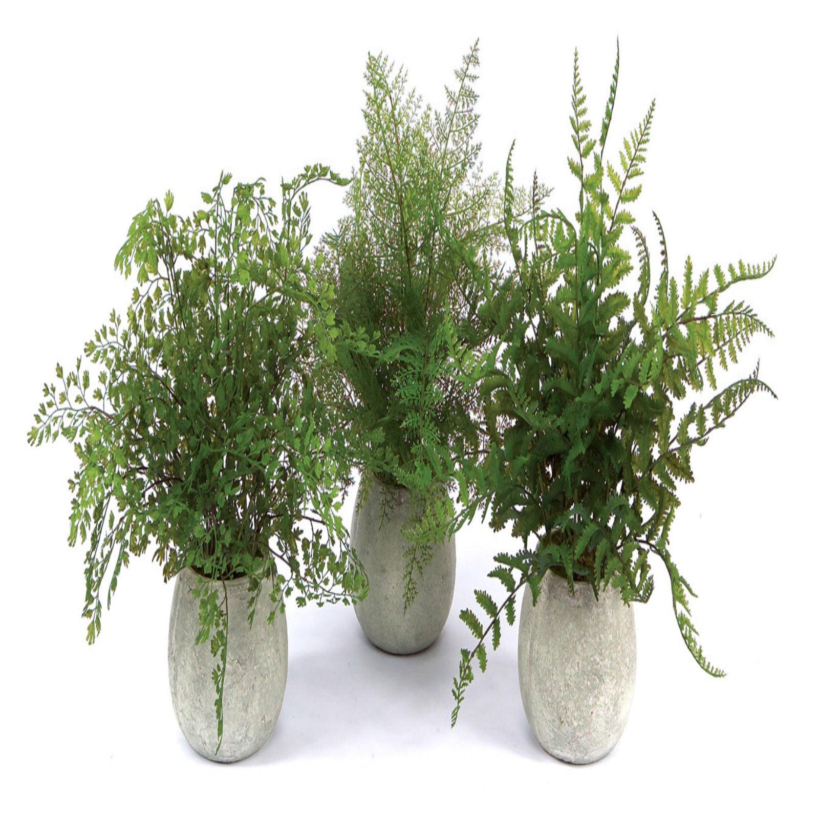 Melrose International Potted Fern Silk Plants - Set of 3