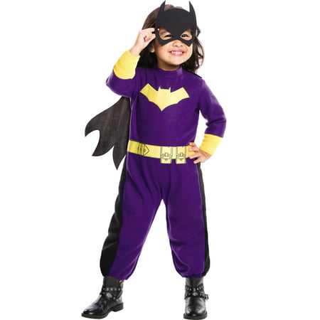 Dc comics batgirl toddler girls superhero costume romper-todd Toddler (2-4t)