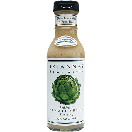 (2 Pack) Briannas Home Style Real French Vinaigrette Dressing, 12 Fl