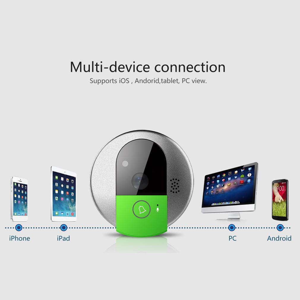 Smart WiFi DoorBell Wireless Night Visual Video Doorbell ...