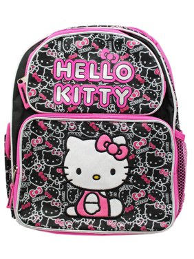 459aaacb4 Product Image Sanrio's Hello Kitty Black/Pink Face Pattern Small Size Kids  Backpack (12in)