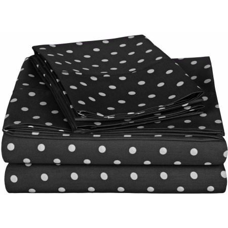 Superior 600 Thread Count Wrinkle-Resistant Luxury Cotton Polka Dots Design Sheet Set for $<!---->