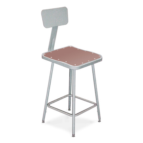 3-Pc Square Seat Stool with Gray Frame Set