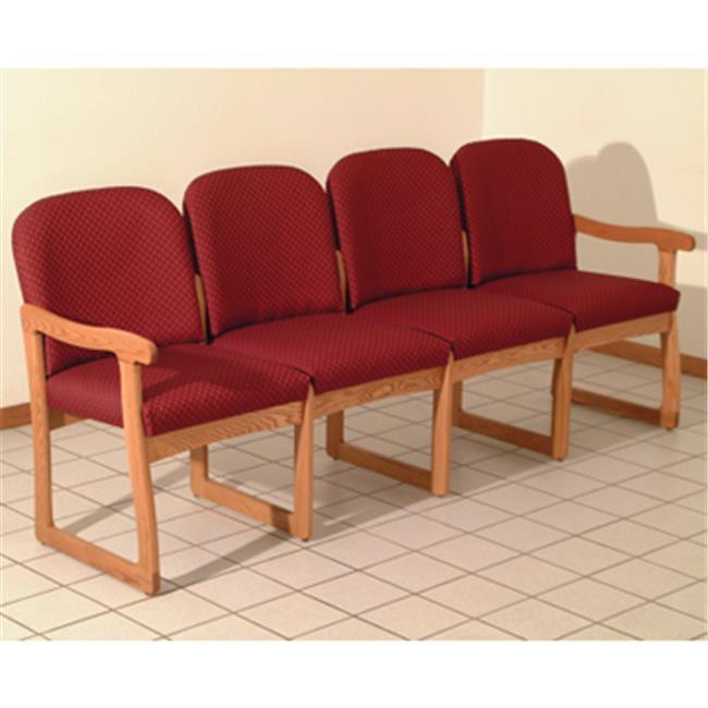 Wooden Mallet Prairie Four Seat Sofa in Light Oak