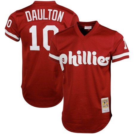 Darren Daulton Philadelphia Phillies Mitchell & Ness Cooperstown Collection Mesh Batting Practice Jersey - Red (Red Sox Batting Practice Jersey)