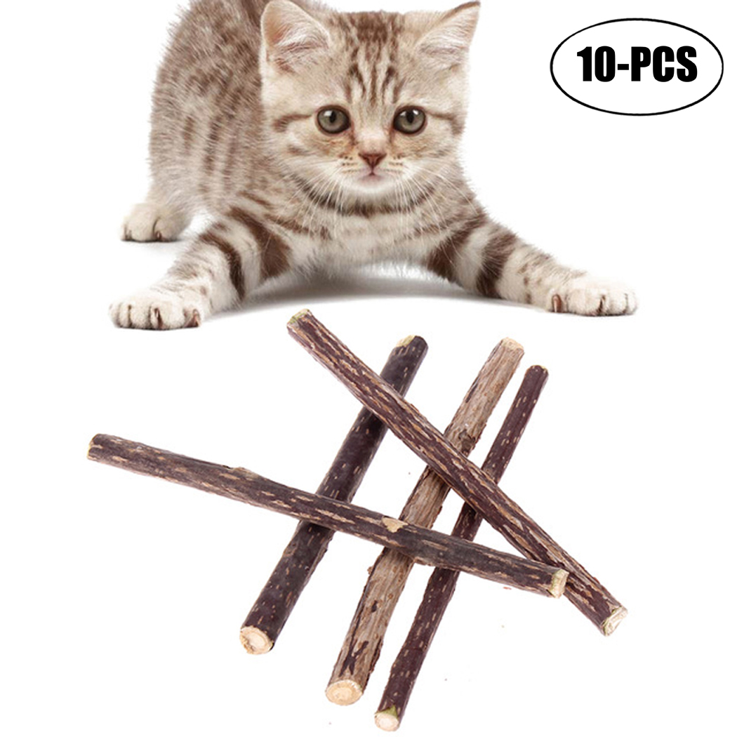 20Pcs Cat Chew Toys Natural Teeth Cleaning Organic Catnip Toys Cat Sticks Treat Cat Toys by Legendog