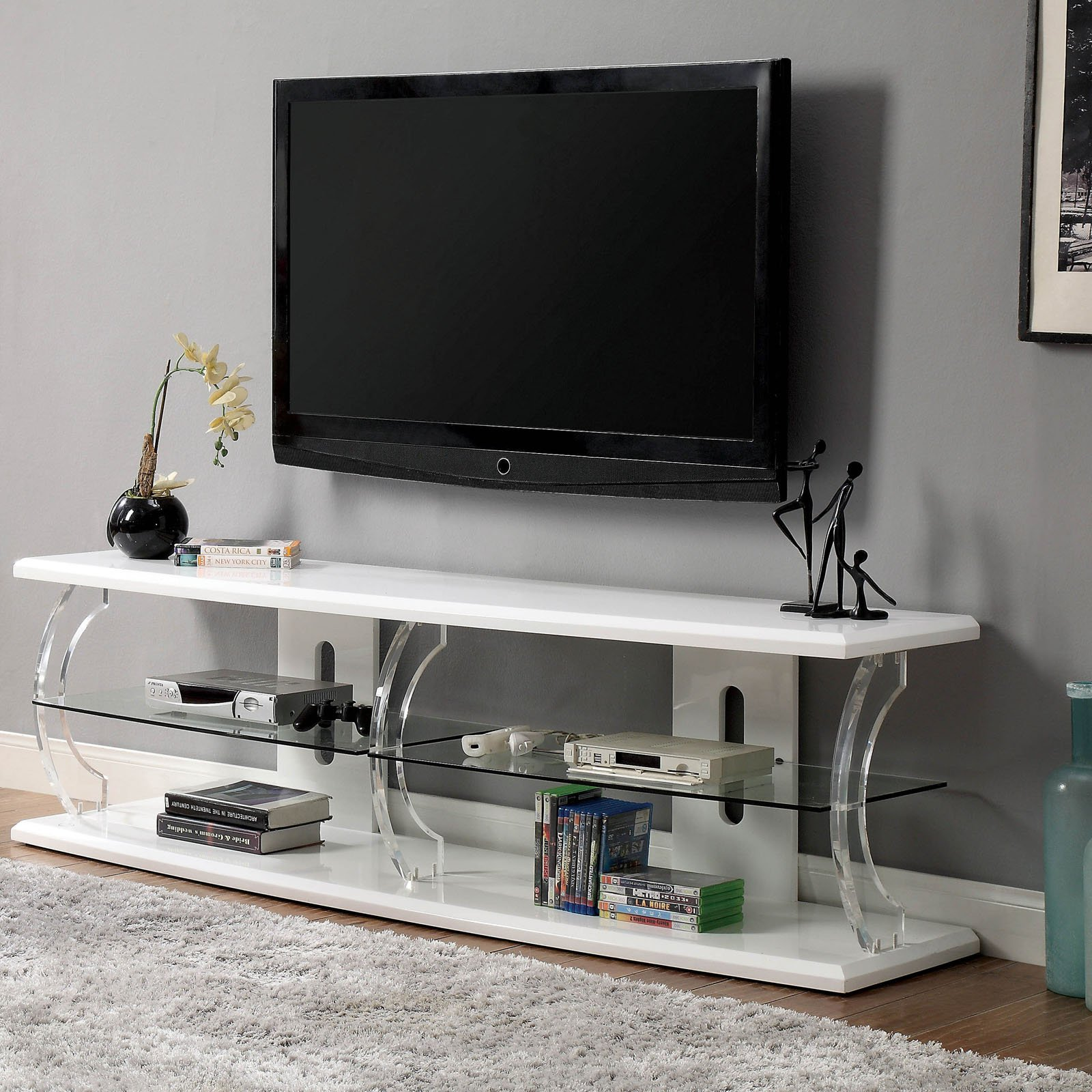 Furniture of America Daley LED TV Stand
