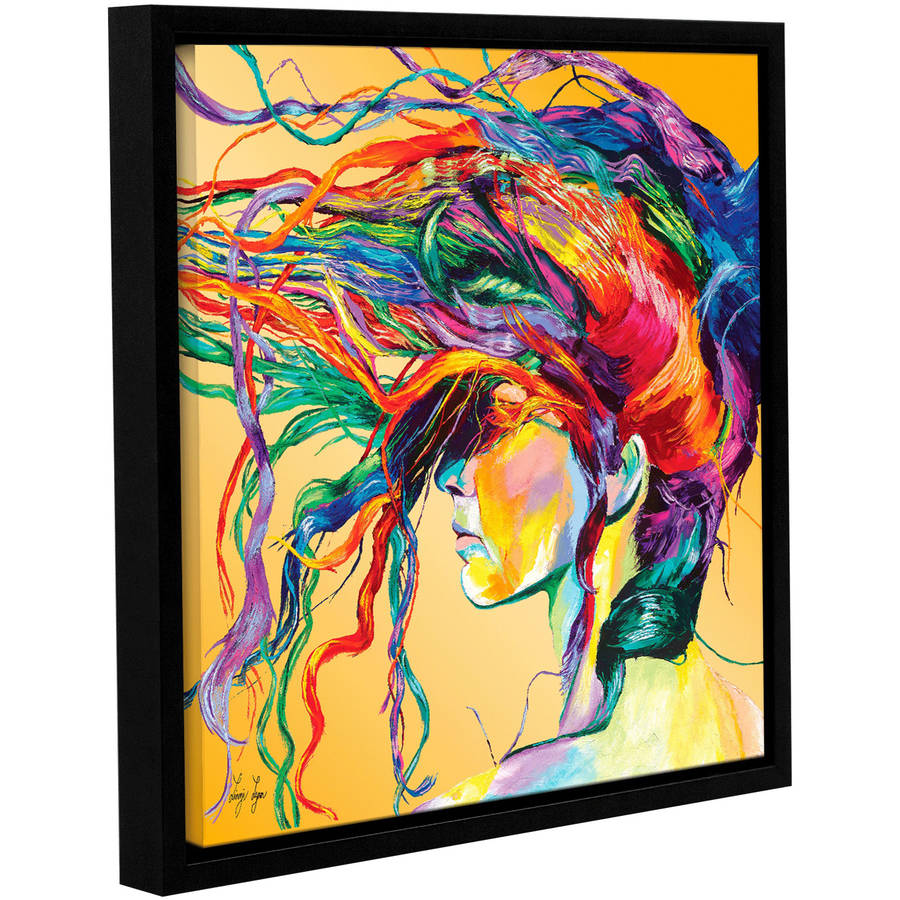 "Linzi Lynn ""Windswept"" Floater-Framed Gallery-Wrapped Canvas Wall Artwork by ArtWall"