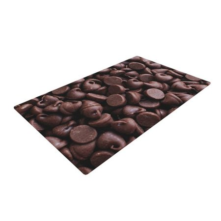East Urban Home Libertad Leal Yay  Chocolate Candy Brown Area Rug