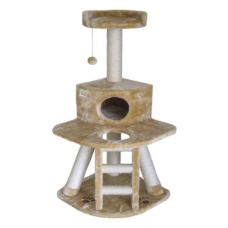 Go Pet Club Cat Tree   Beige   50 In