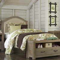 NE Kids Highlands Bailey Upholstered Panel Bed