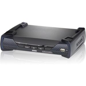 Aten KE6900R DVI KVM Over IP Extender Receiver - 1 Remote User(s) - WUXGA -  1900 x 1200 Maximum Video Resolution - 1 x Network (RJ-45) - 4 x USB - 1 x