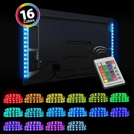 Monster Mounts 16 Color LED TV Backlight Kit with 2