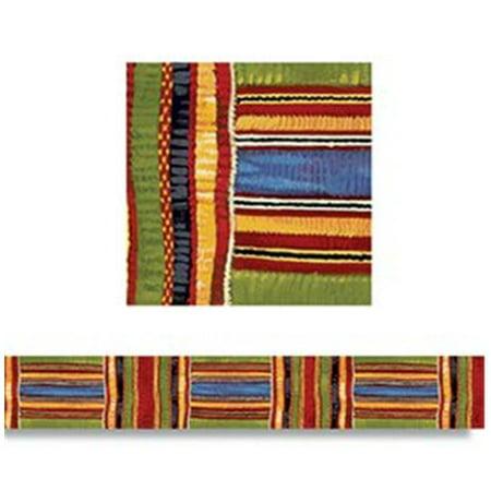 Trend Enterprises T-85092 Kente Cloth Borders Straight Edge- 11 per Pack 2.75 X 35.75 Total (Kente Cloth Borders)