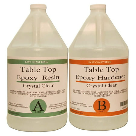 (TABLE TOP EPOXY RESIN 2 Gal kit CRYSTAL CLEAR)