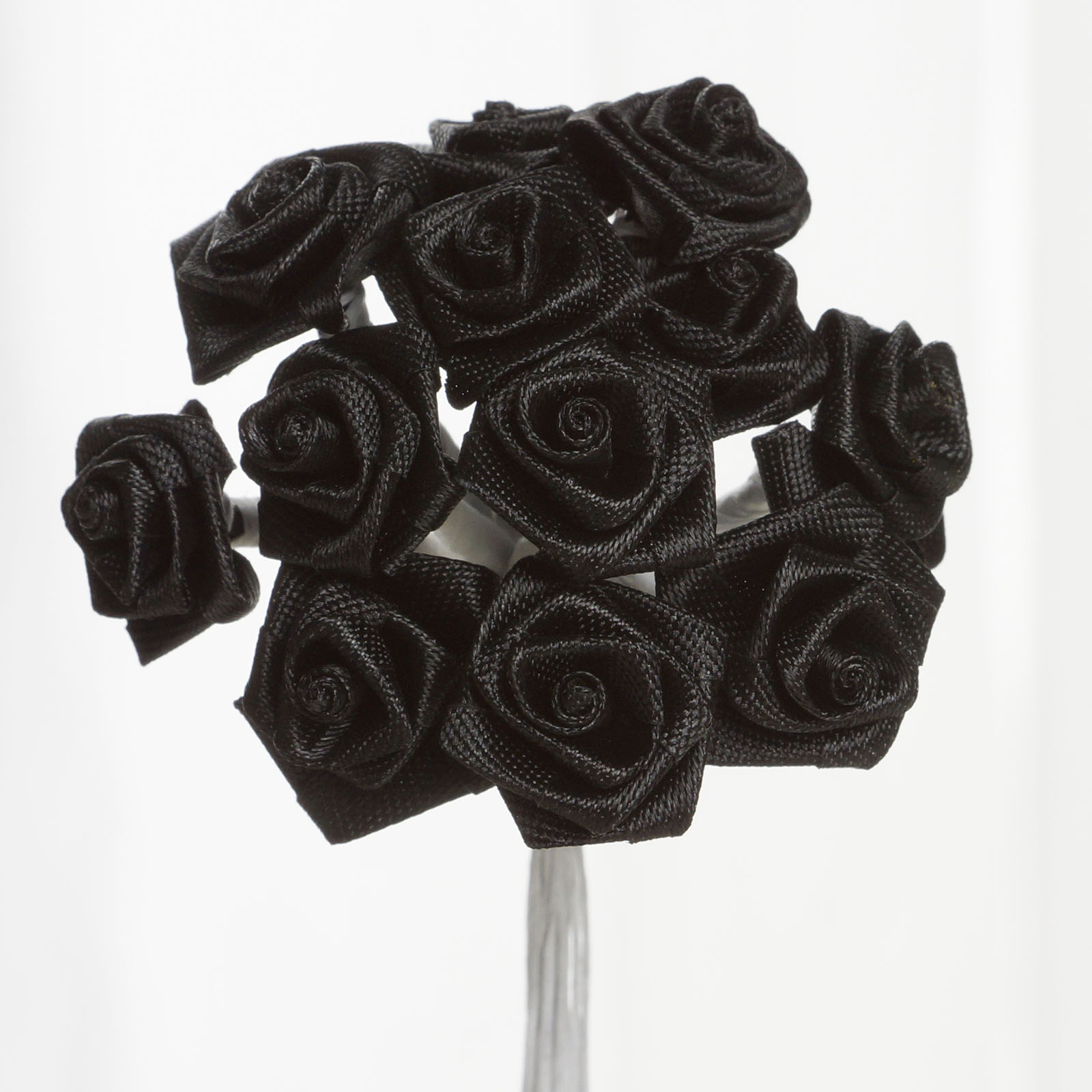 BalsaCircle 144 Craft Ribbon Roses - Mini Flowers for DIY Wedding Party Favors Decorations Supplies